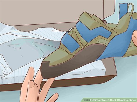 how to stretch out climbing shoes 4 ways to stretch rock climbing shoes wikihow