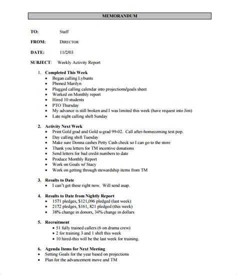 report template format weekly activity report template 22 free word excel