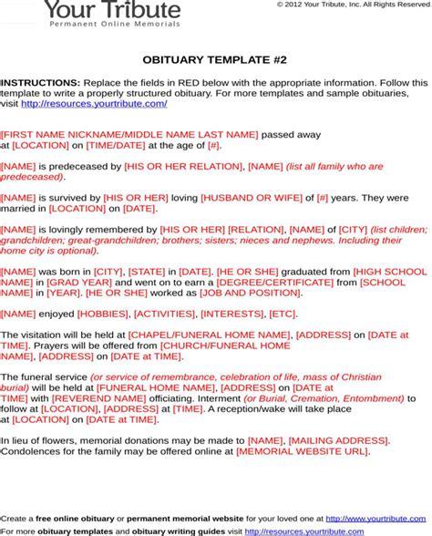 sle obituary template obituary guide template 28 images sle funeral obituary