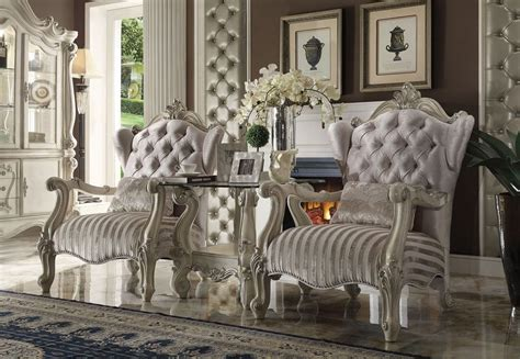 acme  versailles accent chair  ivory dallas designer furniture