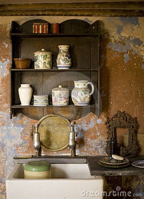 Fashioned On The Shelf by Fashioned Kitchen Royalty Free Stock Photography