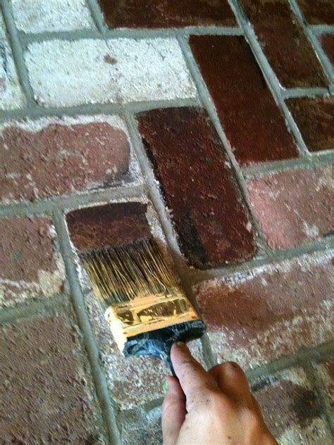 stain brick  paintused behr paint  home depot
