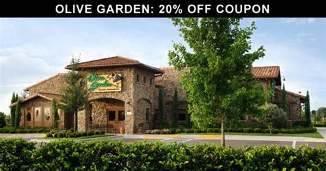 Directions To Olive Garden by Olive Garden 20 Coupon
