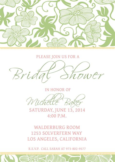 free bridal shower invitation templates printable bridal shower invitations bridal shower invitations free