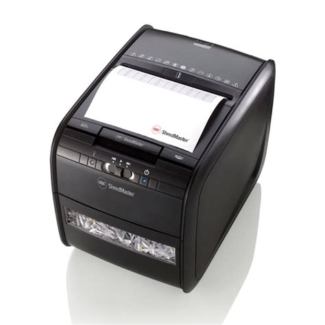gbc automated paper shredder cross cut auto 60x the