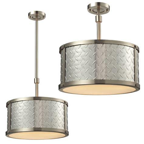 Elk 31424 3 Diamond Plate Brushed Nickel Flush Mount Light Drop In Light Fixtures