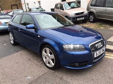 audi a3 2 0 tfsi 200bhp s line auto 3dr blue 2006 56 leather full service history bose sound