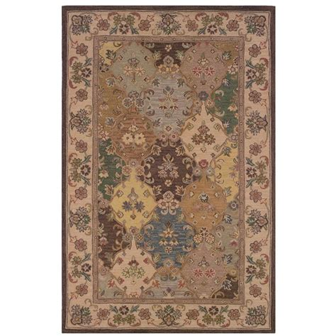 rugs home decor linon home decor soumak collection brown and ivory 8 ft x