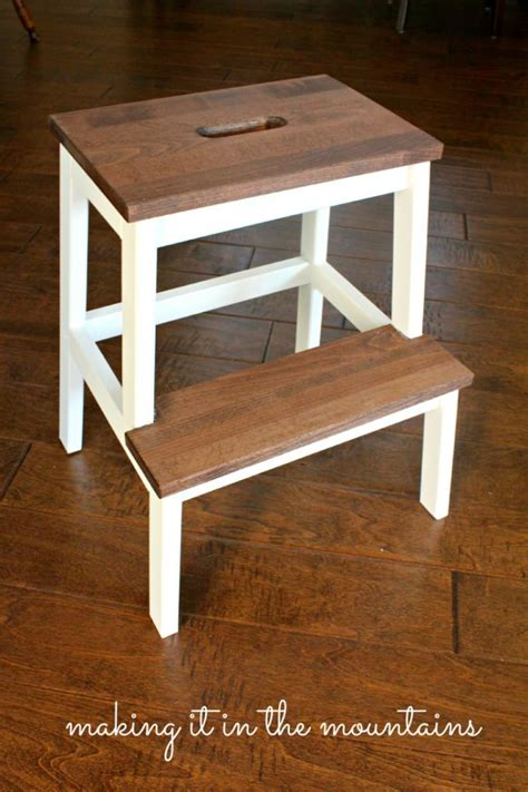 A Quick And Easy Ikea Step Stool Makeover | a quick and easy ikea step stool makeover step stools