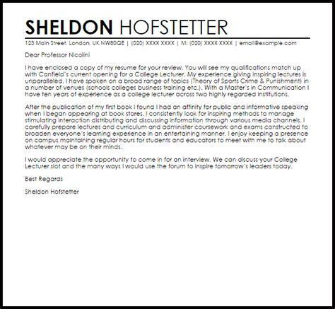 Cover Letter For College Professor – sample cover letter for adjunct teaching position