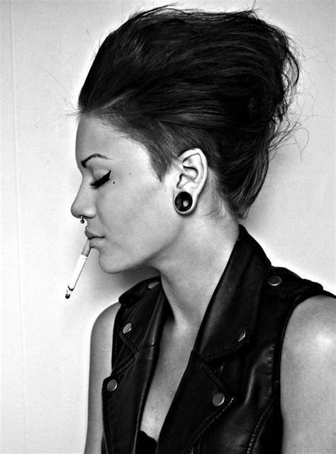 rock and roll womens hair girl piercing on tumblr