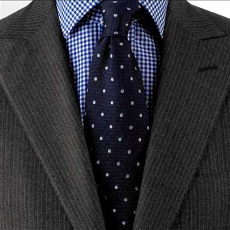 pattern shirt with dark gray suit dark grey suit blue gingham shirt navy tie with white