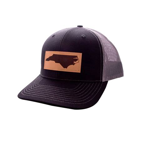 trucker hat nc leather patch island traders featured
