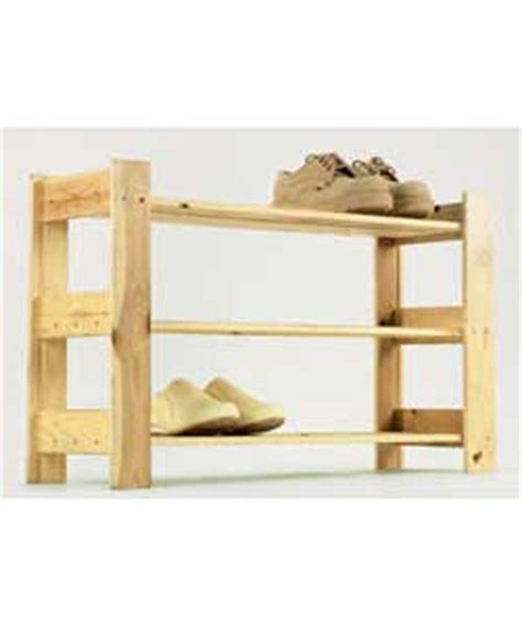 argos solid pine 3 shelf shoe rack furniture product