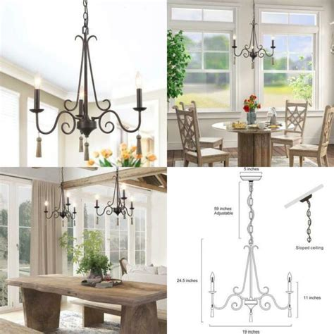 laluz farmhouse chandeliers  dining rooms  lights