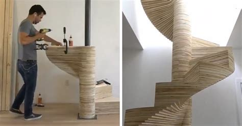 Plywood Stairs Design Image Gallery Spiralstaircase