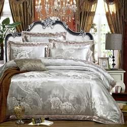 Luxury Lace Bedding Sets New Luxury Jutecell Satin Jacquard Silk Bedding Set Cotton