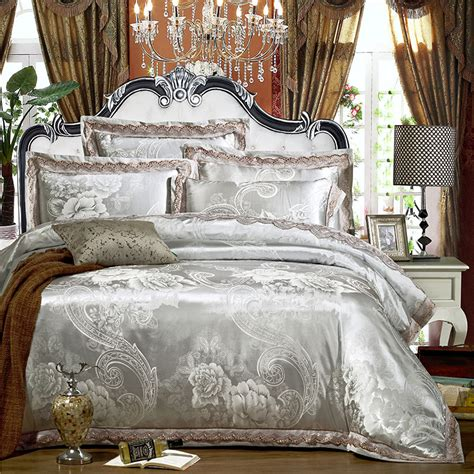 between the sheets luxury bedding fine linens home new luxury jutecell satin jacquard silk bedding set cotton