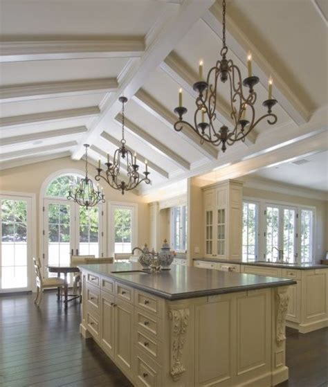 vaulted kitchen ceiling ideas vaulted ceiling with box beams kitchen ideas vaulted ceilings ceilings and beams