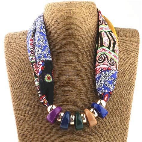 how to make scarf jewelry silk scarf necklace resin neckerchief scarves
