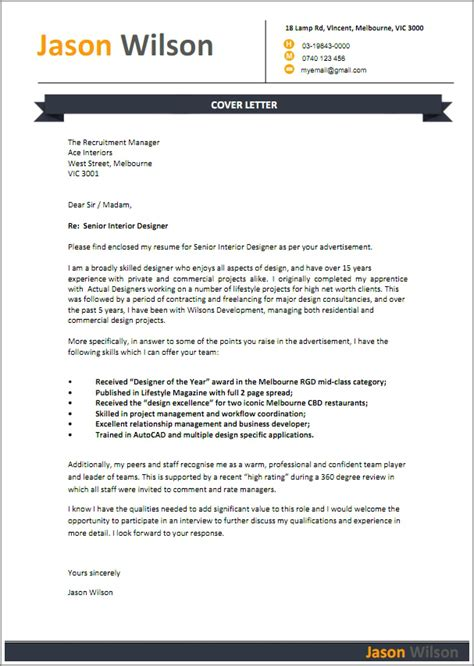 Standard Cover Letter For Employment   Covering Letter Example