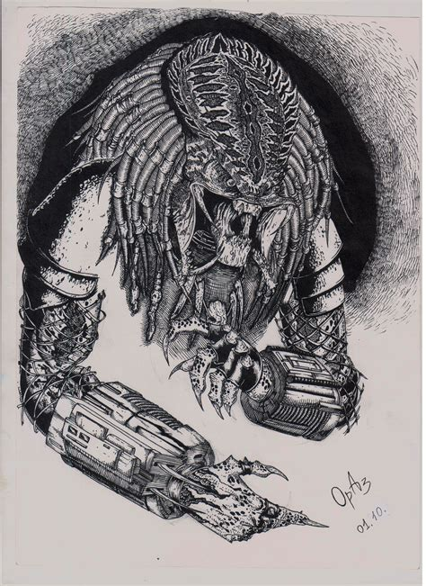 Charming 3d Drawing Website #6: Azat-orynbassarov-predator.jpg?1459593884