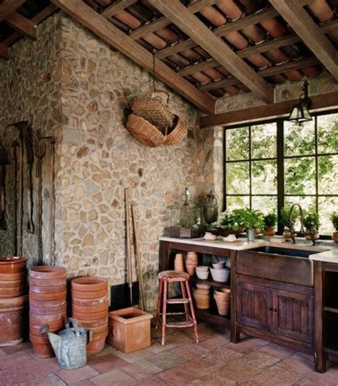 potting shed interior with rustic country design idea potting shed interior garden garage garage ideas