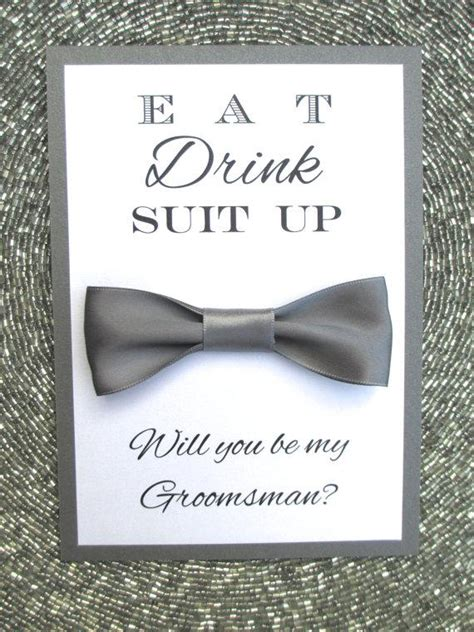 Will You Be My Groomsman Card Bow Tie Bridal Party 2240910 Weddbook Free Will You Be My Groomsman Template