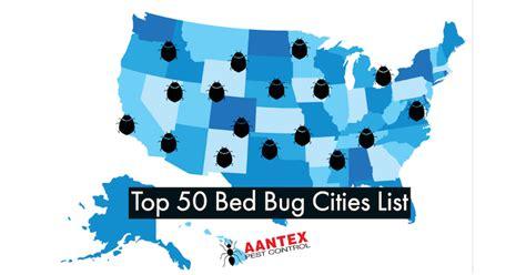 top  bed bug cities list aantex