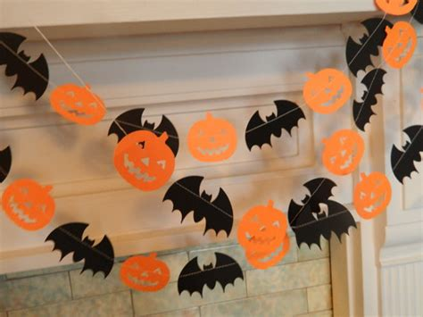 decoraciones de halloween guirnaldas y banderines para halloween manualidades para