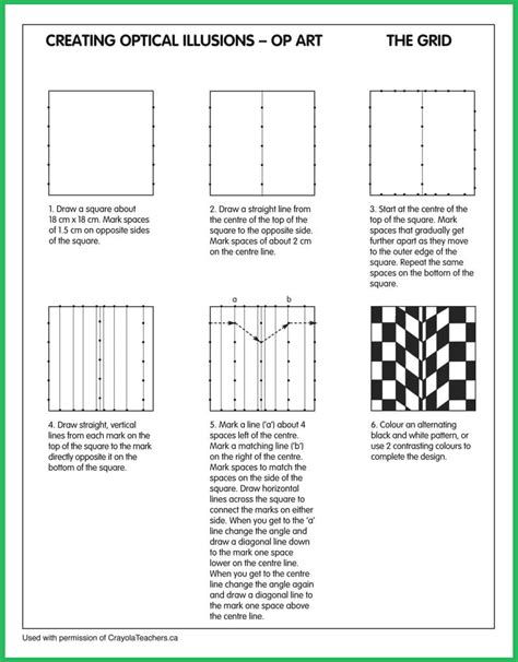 optical illusions printable activities art worksheets crayola teachers