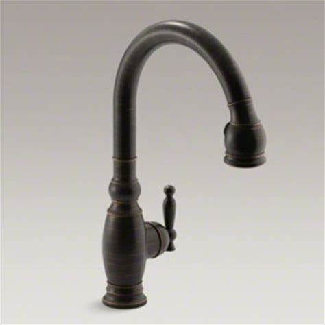 Kohler Vinnata Kitchen Faucet by Kohler K 690 2bz Vinnata Single Handle Kitchen Faucet With Pulldown 16 5 8 Quot Spout Oil Rubbed