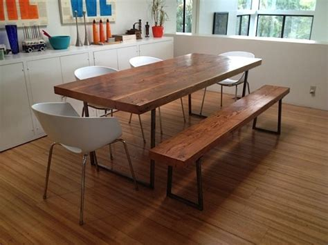crafted reclaimed wood dining tables and benches our