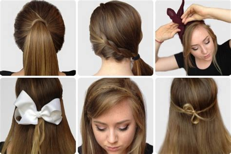 simple college hairstyles simple hairstyles for hair step by step