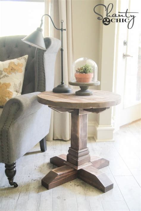 diy side table diy round side table shanty 2 chic