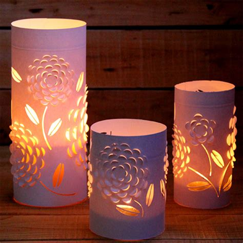 Paper Lanterns For Candles - craft how to make paper lanterns