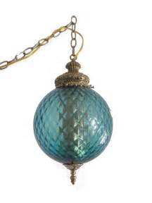 Images Of Hanging Lamps by Ice Blue Swag Lamp Vintage Decor Treasures