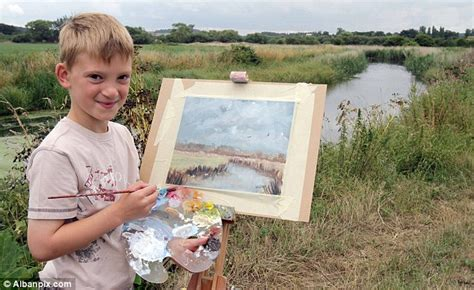 painting for 10 year olds kieron williamson s artwork fetches 163 106 000 in