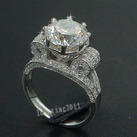 valuable jewelry 8mm 3ct white sapphire cz 925