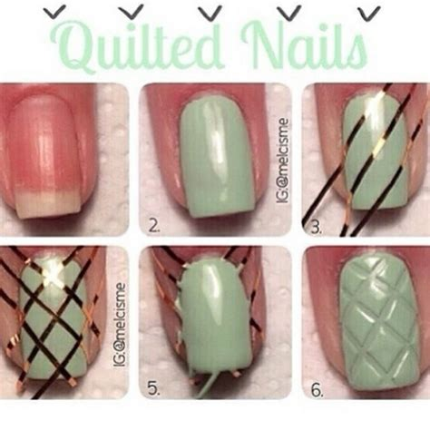 quilted nail art tutorial diy quilted nails pictures photos and images for