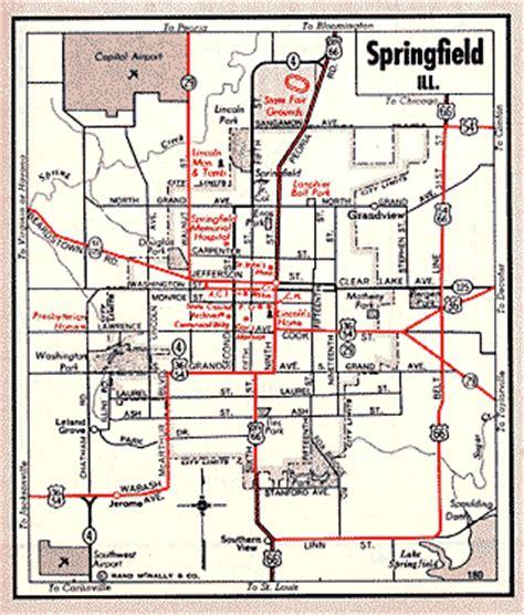 springfield il map illinois route 66 maps