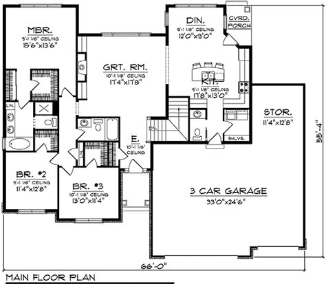 brick ranch house plan 68011hr 1st floor master suite ranch with blend of brick and siding 89227ah 1st floor