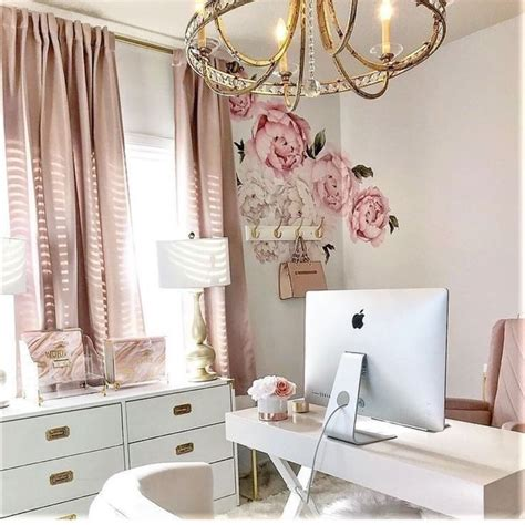 shabby chic image  katie alsin pink home offices home