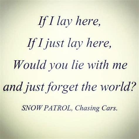 By Snow Patrol Chasing Cars Lyrics | chasing cars song lyrics quotes quotesgram