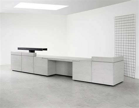 Lintel Concrete Reception Desks Reception Space Concrete Reception Desk