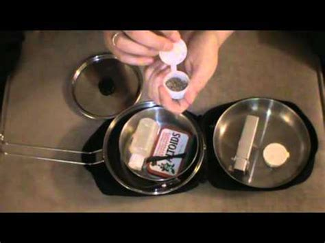 solo one person cook kit for bushcraft and outdoor