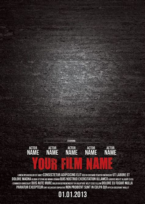 25 best ideas about movie poster template on pinterest