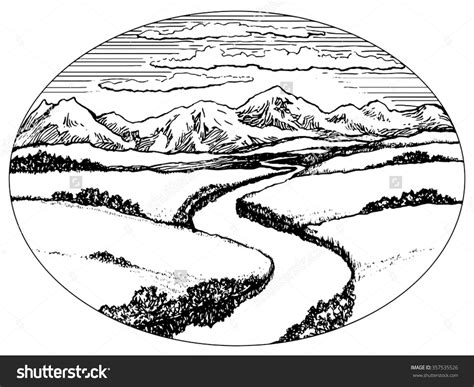 River Clipart Black And White mountain river black and white clipart clipartsgram