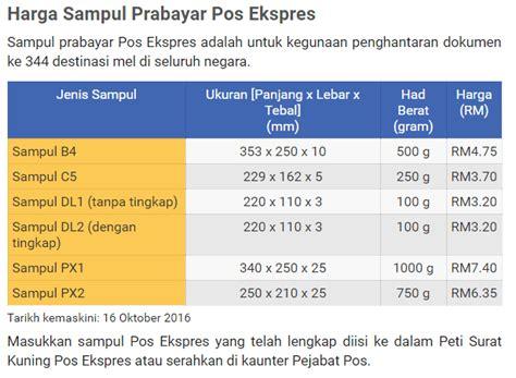 Timbangan Pos Laju 2018 Prabayar Poslaju Senarai Harga Kotak Dan Sul Poslaju