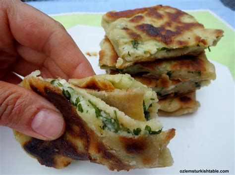 ottoman recipes turkish flat breads with potato and cheese patatesli